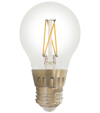 A19 Filament LED Lamp, E26 Base