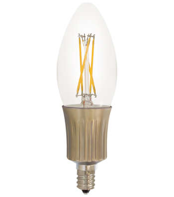 C35 Filament LED Lamp, E12 Base