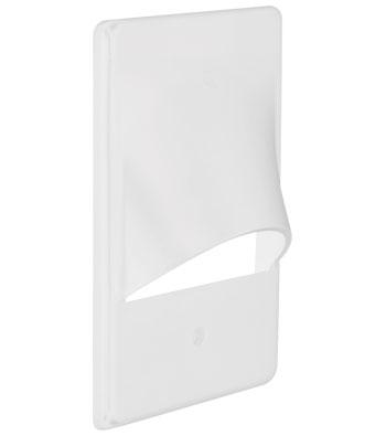 Single Gang Vertical Eyelid Faceplate