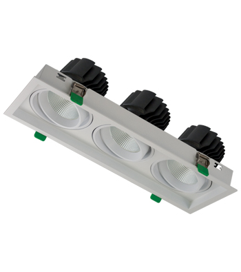 Sigma 4 3-Light Linear Tilting Gimbal LED Fixture