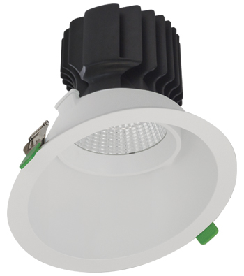 Sigma 5 Round Tilting Gimbal Reflector LED Fixture for Slope Ceiling