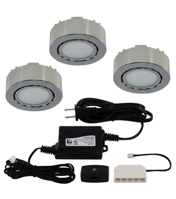 LED 3-Puck Light Kit