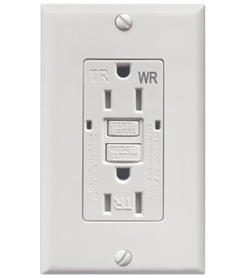Tamper and Weather Resistant GFCI Duplex Receptacle