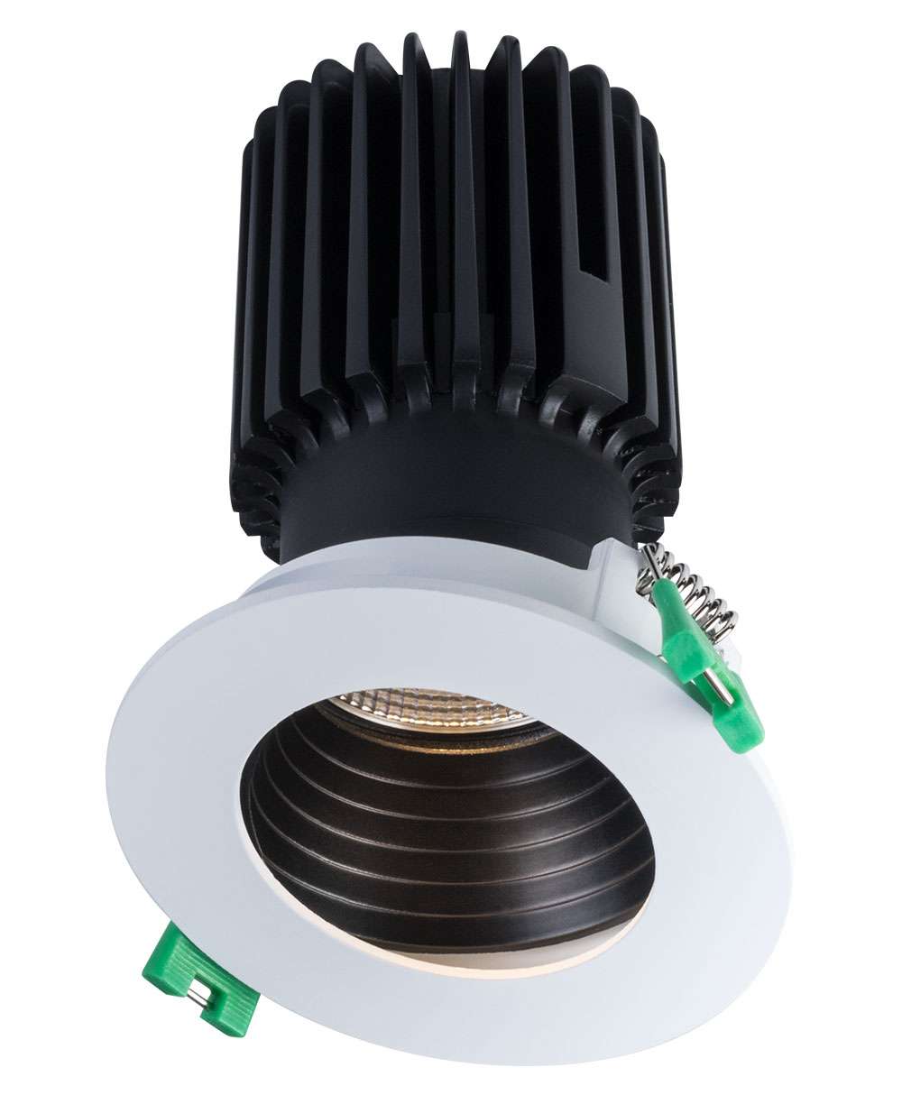 Sigma 2 Round Wall Wash LED Fixture with Stepped Baffle