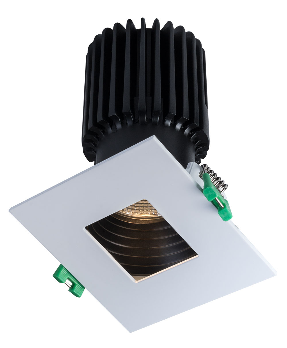 Sigma 2 Square Pinhole LED Fixture with Stepped Baffle